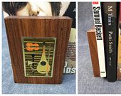 60's Mid Century Modern Bookends Musical instruments - Wood and Metal