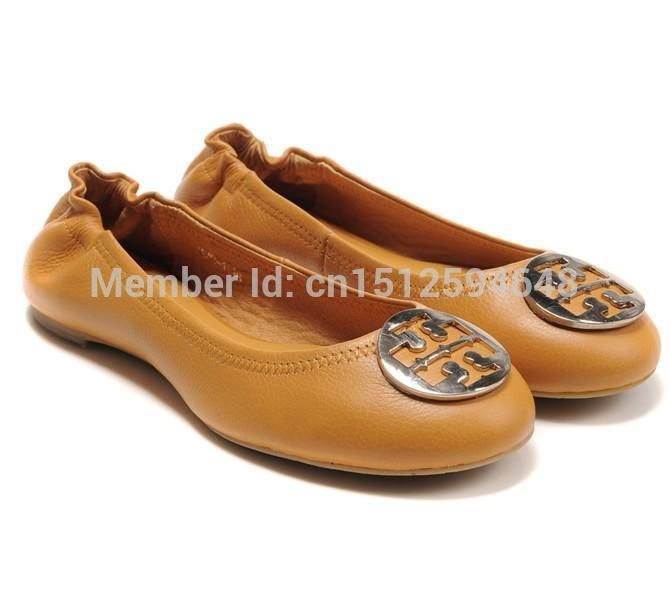 free shipoing Women's Genuine Leather Lambskin Metal Leapord Ballet Flat  Slip-On Casual Designer Shoes