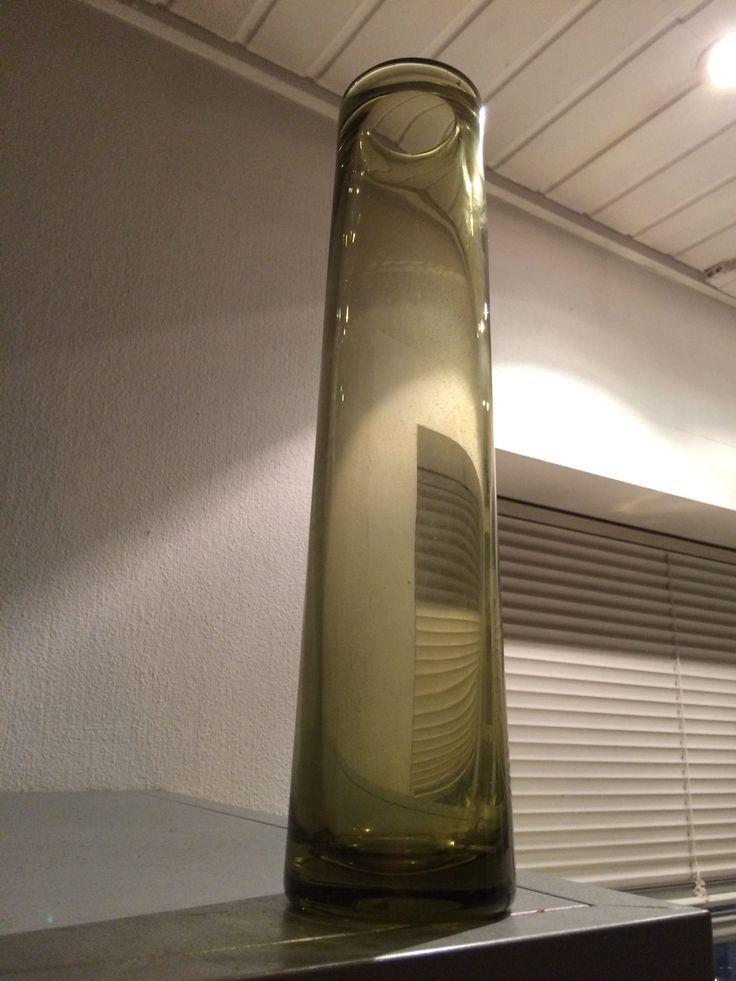 Big Green Labrador glass vase designed by Per Lütken for Holmegaard by AtRathjes on Etsy