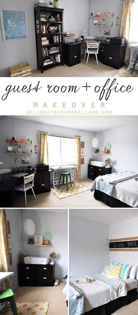 Guest Room + Office Makeover, Delineate Your Dwelling