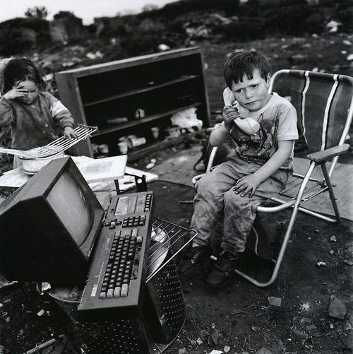 Mary Ellen Mark. Paddy Joyce, Travellers' Encampment, Finglas, Ireland, 1991