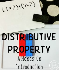 A Hands-On introduction the Distributive Property of Multiplication.  I love this!