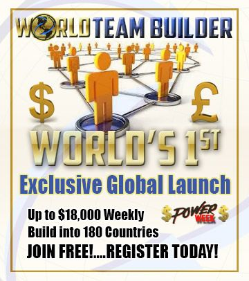 "Want to take YOUR World Team Builder site ""viral""?  Want to Double or Treble the amount of ""personal"" sign ups in YOUR World Team Builder website?  Remember you could be making $35 for every person that registers via YOUR World Team Builder website and joins the official opportunity when we launch.  Spread the word, share your website with as many people as you can because if you don't someone else will.  http://www.worldteambuilder.com/ebookfree15"