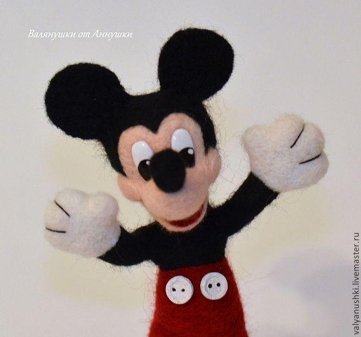 Купить Микии Маус - Микки Маус, дисней, мышонок, мультяшки, мультфильм, валяная игрушка, фелтинг