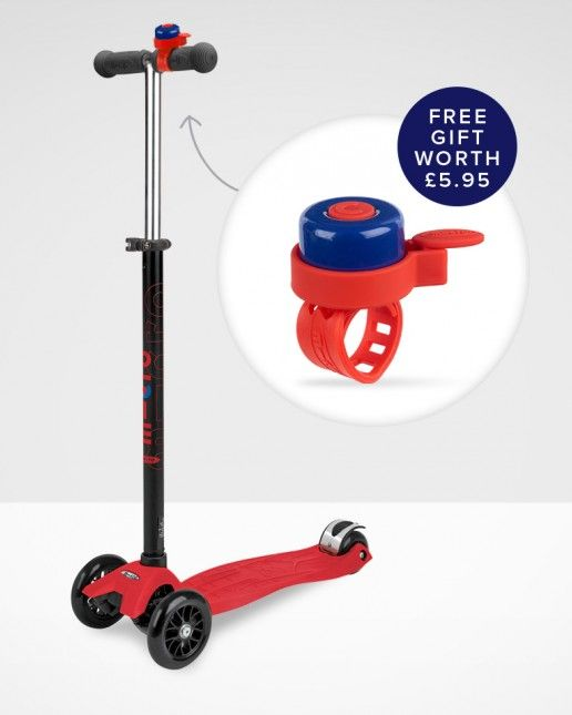 Maxi Micro Scooter Red T-Bar| Micro Scooters UK