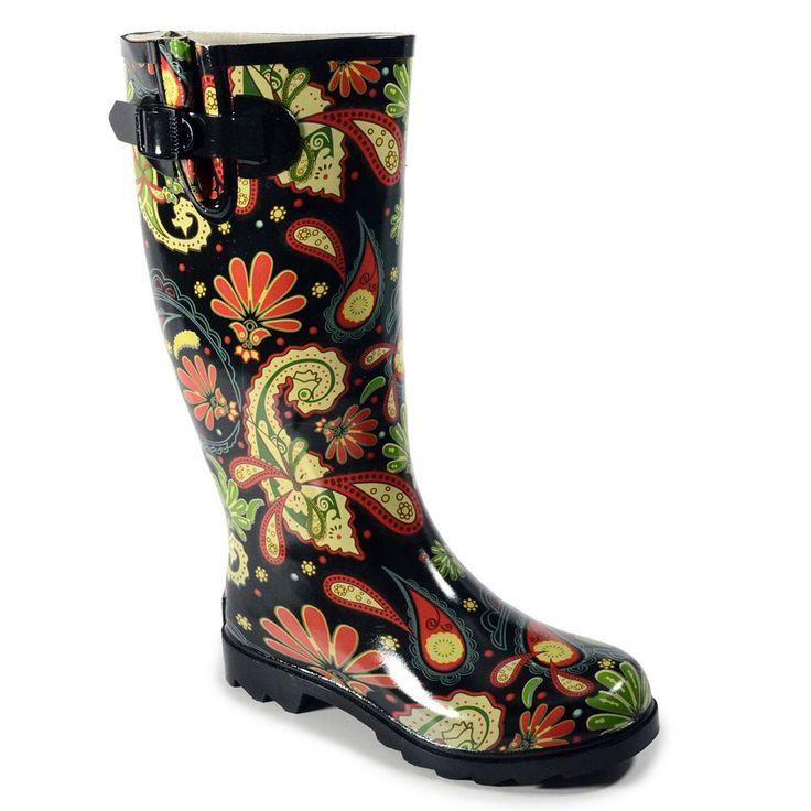Corkys Sunshine Women's Rain Boots, Size: 11, Black
