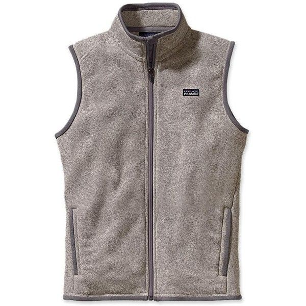 Patagonia Women's Better Sweater® Fleece Vest ($49) ❤ liked on Polyvore featuring outerwear, vests, jackets, coats, tops, black fleece vest, patagonia, vest waistcoat, black zip vest and zipper vest