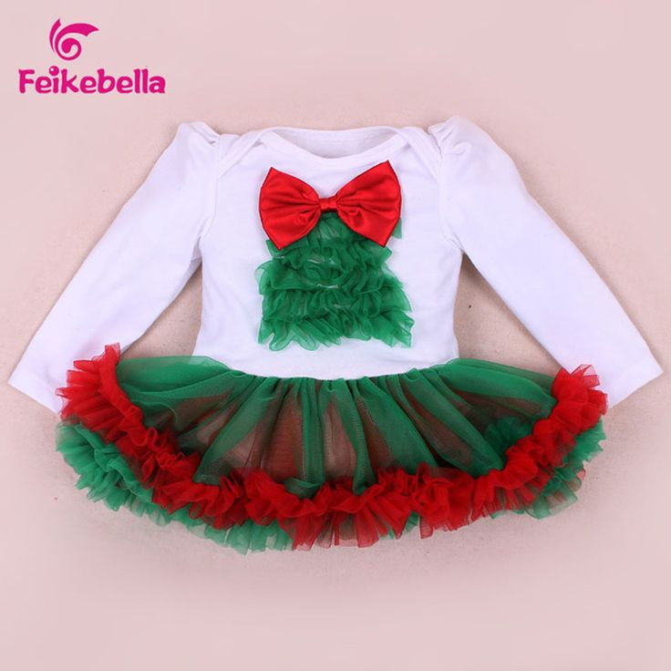 Baby Girls Christmas Clothes Cotton Baby Santa Claus Dress Xmas Clothing Infant Princess Party Baby Dresses Tutu roupas meninas