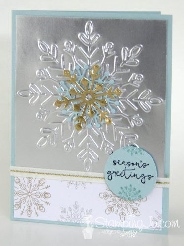 Cheers to the Year & Winter Wonder Embossed Snowflake - Hand Stamped Cards with Josee Smuck-Stampin' Up! Canada Demonstrator