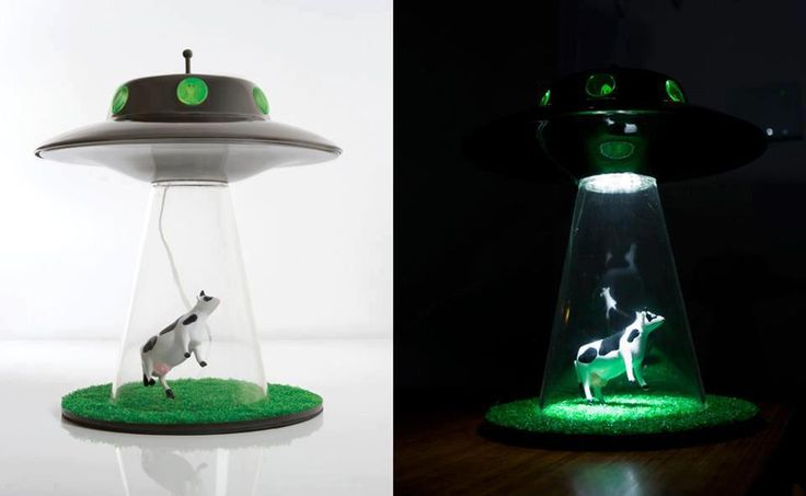 Lamp abducted cow