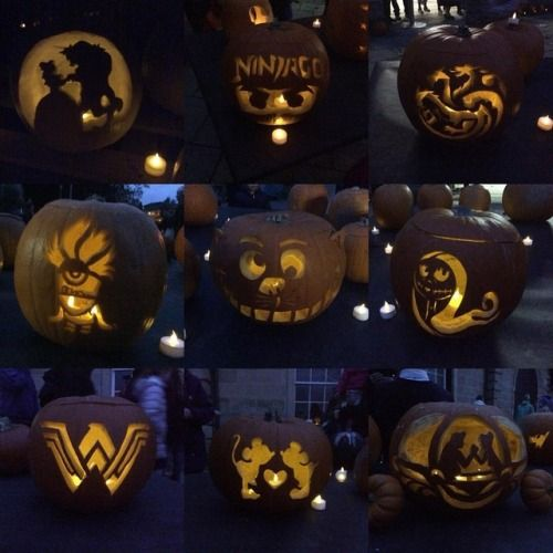 Sneak peek of what we've been getting up to at this most spooktastic time of year…🎃   In October when we're not working with paper, we're usually carving up a storm working with pumpkins - here's a few of ours from the Illumination evening at Castlemilk's annual pumpkin festival! 🖤  #pumpkins #pumpkincarving #glasgowpumpkincarvers #beautyandthebeast #ninjago #gameofthrones #targaryen #winteriscoming #dragons #housetargaryen #firecannotkilladragon #minions #despicableme #cheshirecat…