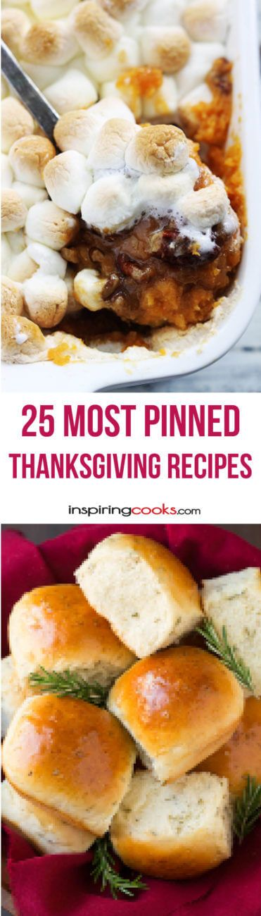 The 25 Most Pinned Thanksgiving Recipes for the best Thanksgiving Ever!