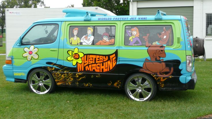 """The most iconic van on TV has to be: """"The Mystery Machine,"""" whose job it was to transport Scooby-Doo, Shaggy, Velma, Daphne, and Fred (AKA Mystery,..."""