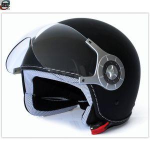 Retro halv hjelm Sort