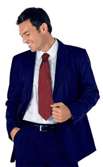 Abito blu cravatta bordeaux latitude