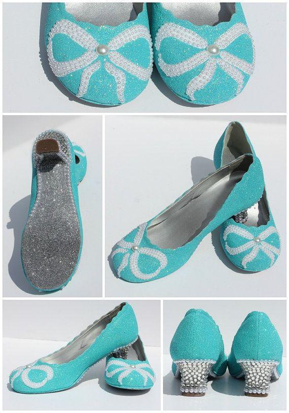 Mädchen Robin Ei Blau Kristall Schuhe  Aqua von WickedAddiction