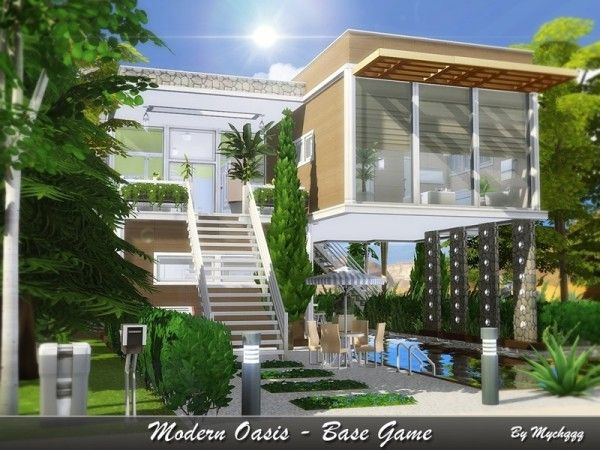 The Sims Resource Modern Oasis House By Mychqqq Sims 4 Downloads Sims House Sims 4 Modern House Sims 4 House Plans