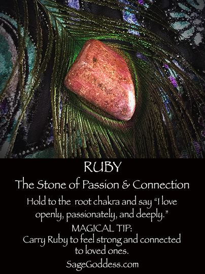 Ruby is the stone of passion and connection
