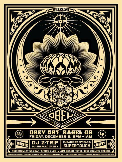 Z Trip & Shepard Fairey. Obey poster.