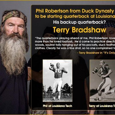 Phil Robertson and Terry Bradshaw at Louisiana State where Terry was