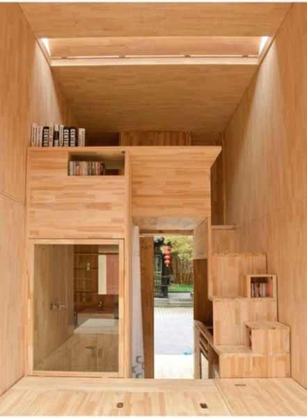 ultra compact living space by chinese student
