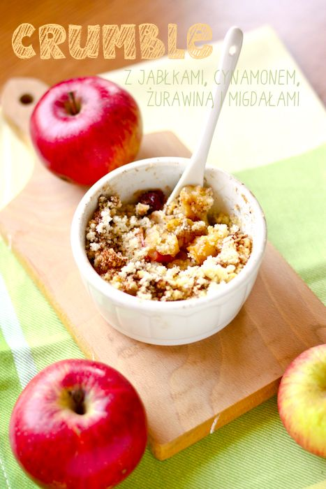 Kuchenne fanaberie: Crumble z jabłkami i cynamonową kruszonką