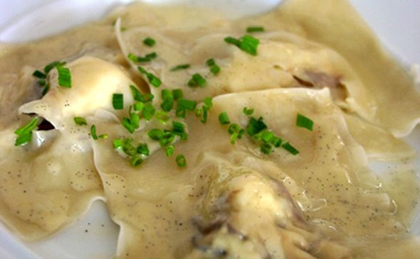 Post image for Lobster Ravioli with Vanilla Butter Sauce