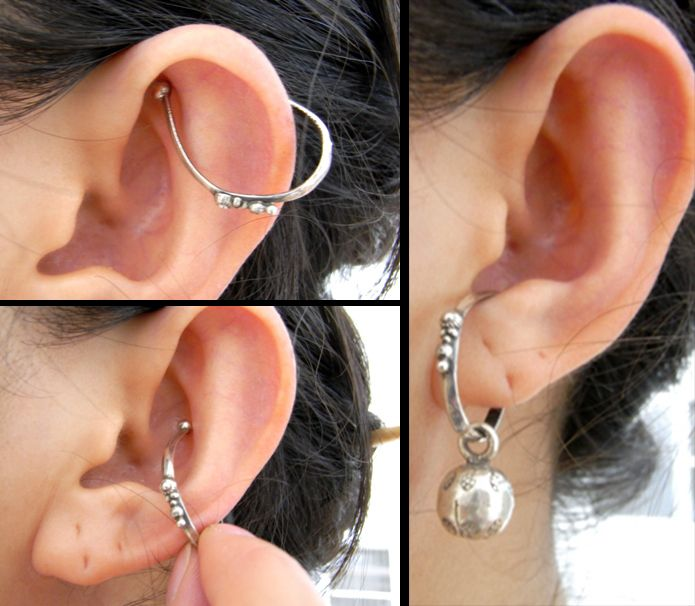 ピアスホールのない方やイヤリングが痛くて痛くて…そんな方にお勧めのイヤーフック。耳の外側に掛けるタイプはよくありますが、シンプルに、スマートにピアスよりお...