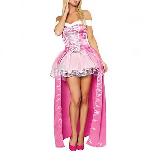 Sexy Mujer Adulto Princesa rosada de lujo del traje de Halloween (2pieces)