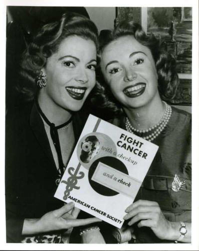 Jayne Meadows & Audrey Meadows  in a photo promoting The American Cancer Society which is a great organization. :)