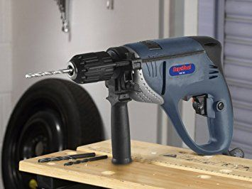 SupaTool Variable Speed Hammer Drill 800W. SupaTool 800w Hammer Drill. Variable Speed of 0-3000/min and Forward & reverse actions. Selectable hammer action, depth stop gauge. Multi Position Soft Touch Handle with lock-on button. Chuck Key and Holder. #drill #tool #hammer #variable #diy #electric #craft