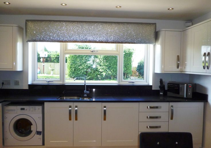 Here is our glitter pelmet available at www for Silver kitchen wallpaper