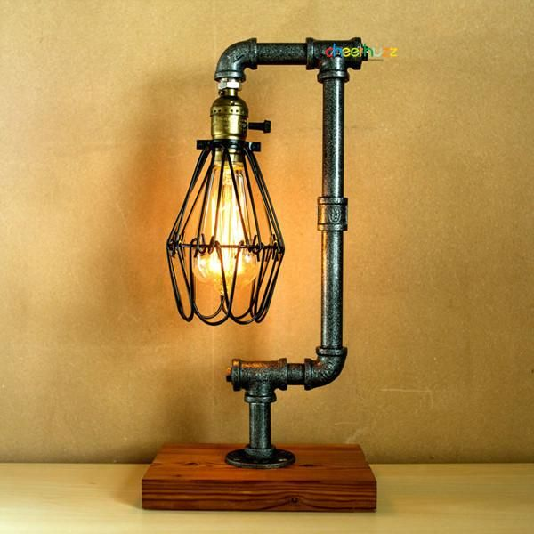 Dimming Vintage Industrial Retro Pipe Table Lamp TL136 – Cheerhuzz