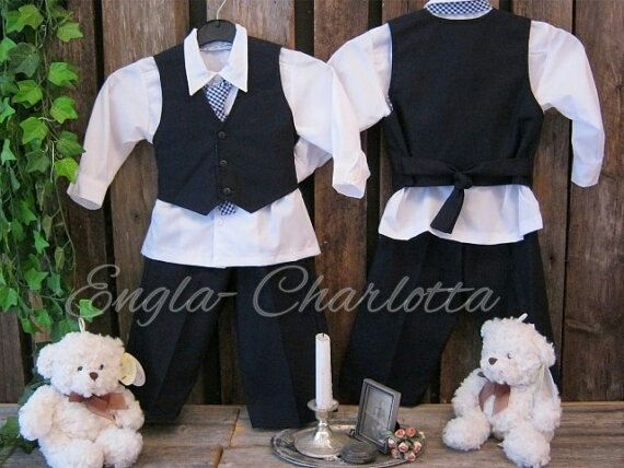 Navy blue linen boys suit. Ring bearer linen outfit. Toddler boy formal wear. Boys wedding suit. Boys nautical birthday outfit. Boat wedding on Etsy, $106.20