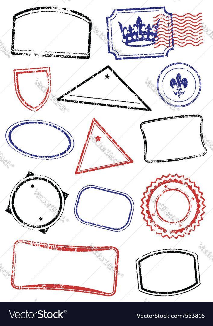 Vector image of Grunge stamps Vector Image, includes grunge, travel, ink, stamp & post. Illustrator (.ai), EPS, PDF and JPG image formats.