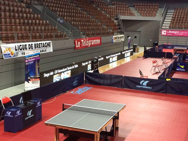 Réalisation et intégration des animations vidéo LED à l'occasion du championnat de France de tennis de table à l'Arena de #Brest http://www.air-media29.com/audiovisuelle-brest/realisation-production-videos.html