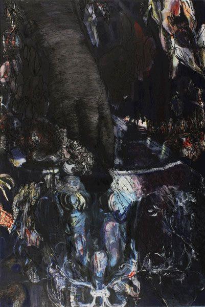 Marli Turion, Lola's Hand, 2014, acryl / oil  on canvas 150 x 100 cm