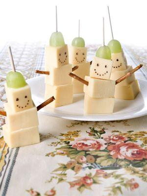 Käse-Gesichter! Sehr schnell und einfach zubereitet. Ideal für den Kindergeburtstag!