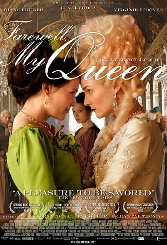 I write about the 2012 French film, Farewell My Queen, in my latest blog post. The movie takes us through the first few days at Versailles after the storming of the Bastille through the eyes of Sidonie, a young servant who is smitten with Marie-Antoniette.
