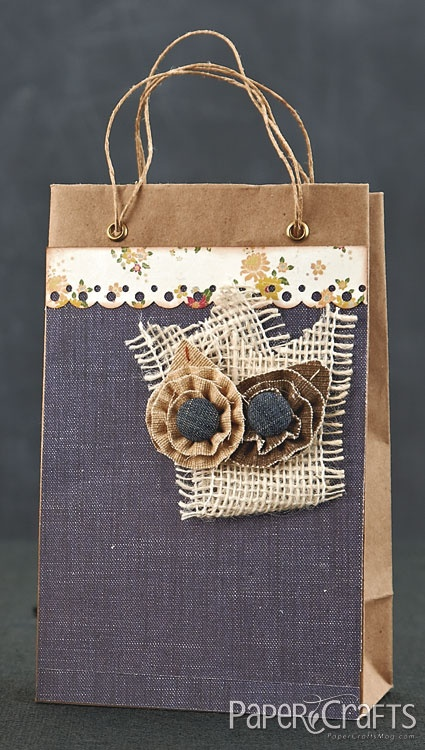 Natural Flower Gift Bag by @Emily Schoenfeld Branch