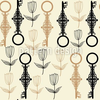 Sold this design! #key #flowers #seamless #pattern #vector #RF