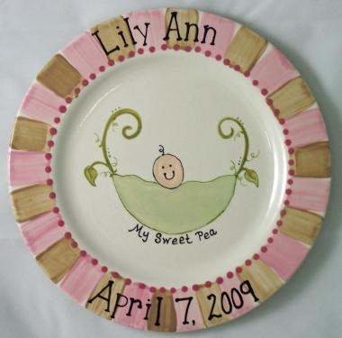 Sweet Pea - Girl · Painted PlatesPainted PotteryCeramic ... & 11 best Baby images on Pinterest | Pottery ideas Ceramic painting ...