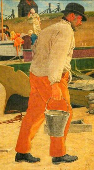 A Bucket of Salt Water by Joseph Edward Southall. Manchester Art Gallery.