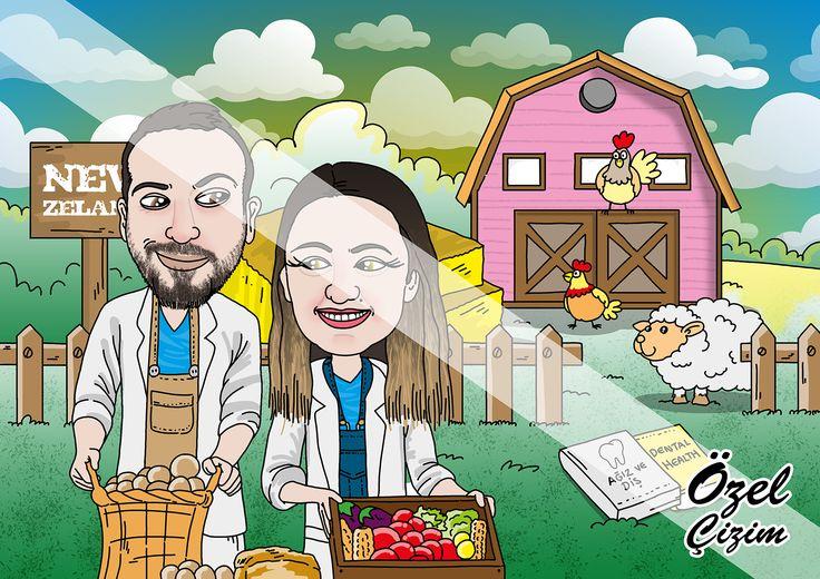 #ozelcizim #resim #karikatur #sanat #hediye #hediyeler #disci #dentist #disci #illustrasyon,yeni zelanda,new zeland