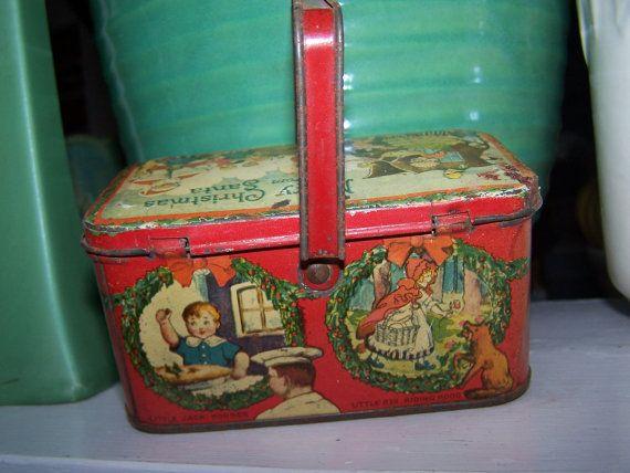 Little Red Riding Hood Tin Box