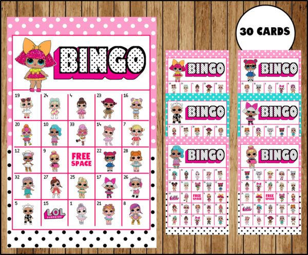 Lol Surprise Dolls Bingo Game Printable 30 Different