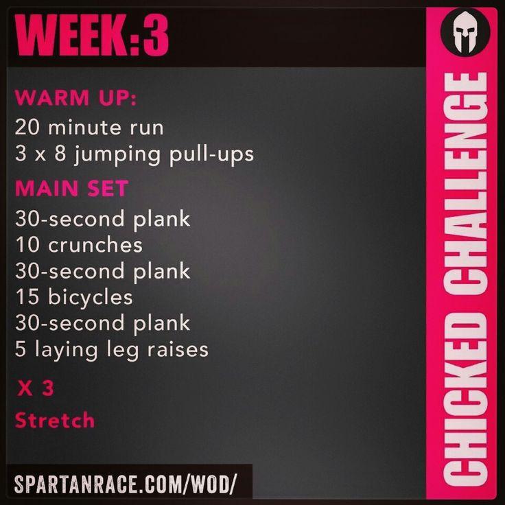 Spartan Training: Chicked Challenge (Week 3)