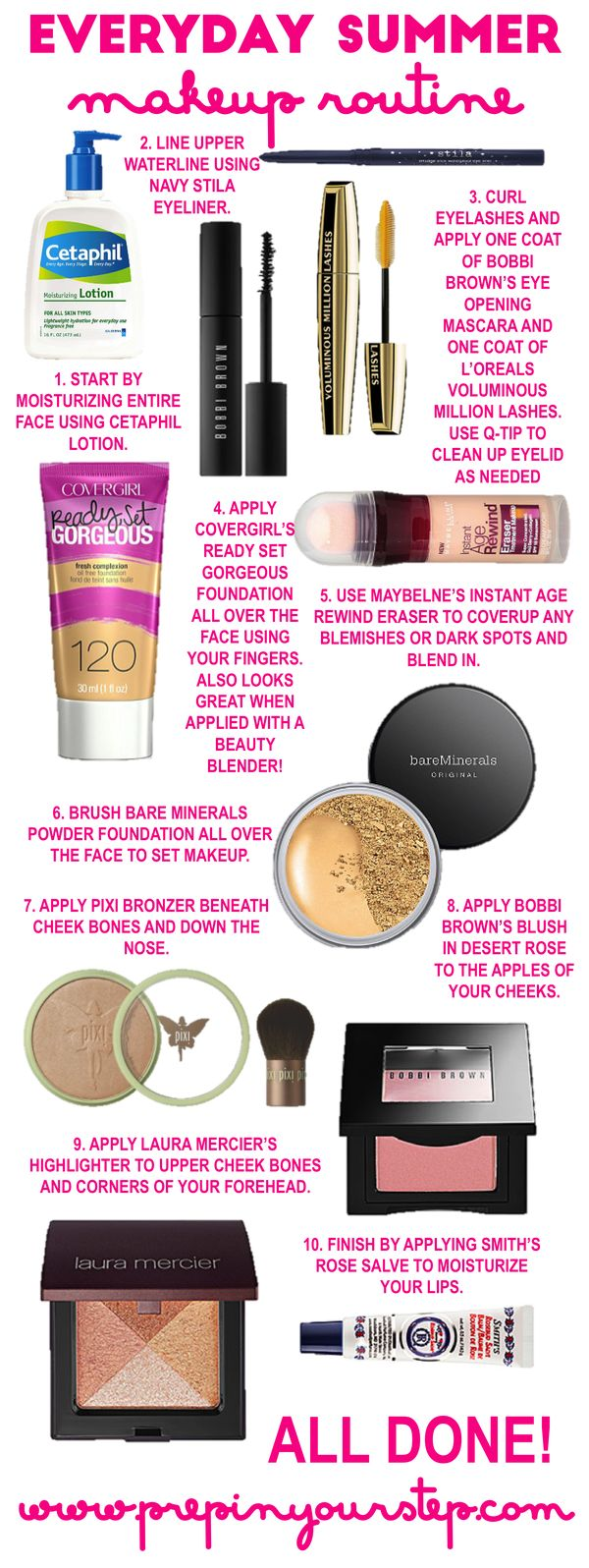 Easy Everyday Makeup Routine Perfect For Summer Prepinyourstep