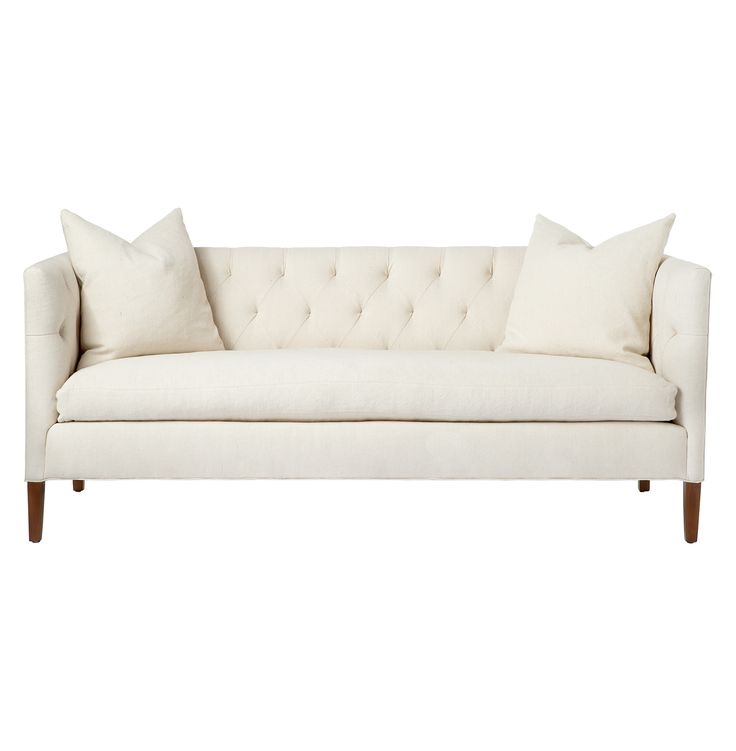 Nell Mid Century Ivory Tufted Feather Down