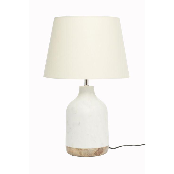 Marble and mango wood table lamp. Product number: 518001 - Designed by Hübsch